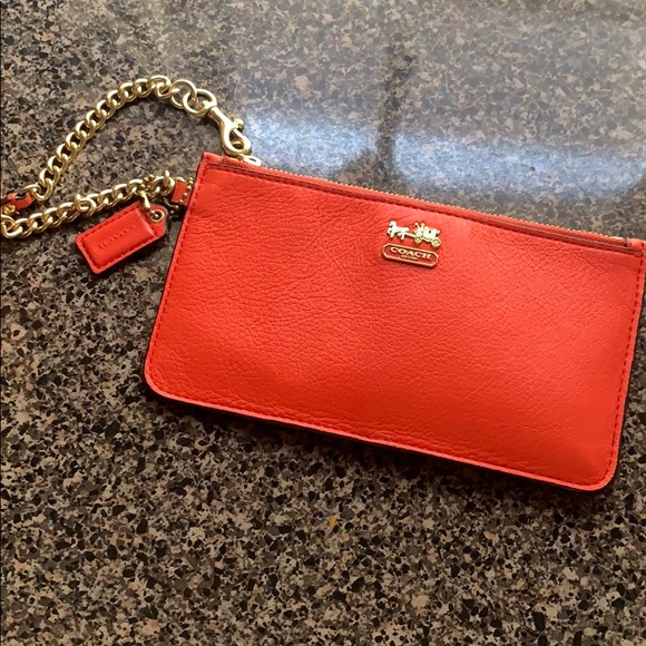 Coach Handbags - Coach wristlet Coral